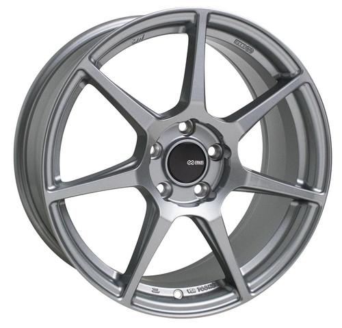 Enkei 516-880-8045GR TFR Storm Gray Tuning Wheel 18x8 5x100 45mm Offset 72.6mm Bore