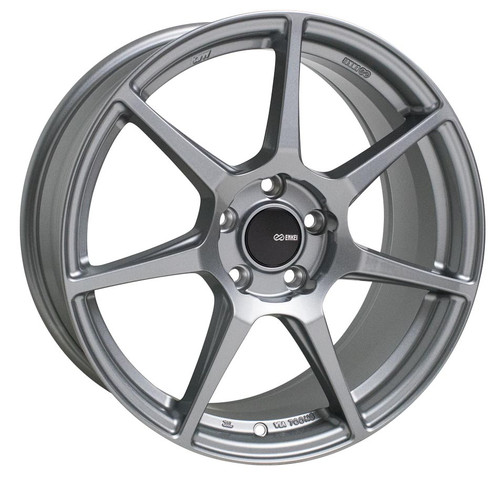 Enkei 516-885-8045GR TFR Storm Gray Tuning Wheel 18x8.5 5x100 45mm Offset 72.6mm Bore