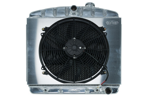 Cold Case Radiators CHT563AK 55-56 Tri-5 Chevy Radiat or & 16in Fan Kit 6 Cyl