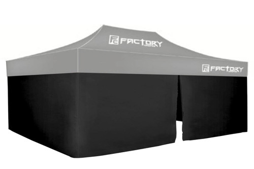 Factory Canopies 42001-KIT Wall Kit Black 10ft x 20ft Canopy
