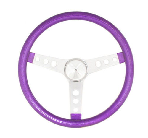 Grant 8443 Steering Wheel Mtl Flake Purple/Spoke Chrm 13.5