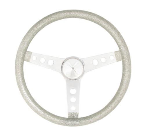 Grant 8444 Steering Wheel Mtl Flake Silver /Spoke Chrm 13.5