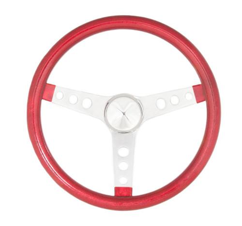 Grant 8445 Steering Wheel Mtl Flake Red/Spoke Chrm 13.5