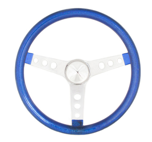 Grant 8446 Steering Wheel Mtl Flake Blue/Spoke Chrm 13.5