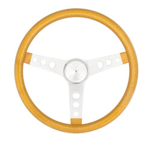 Grant 8447 Steering Wheel Mtl Flake Gold/Spoke Chrm 13.5