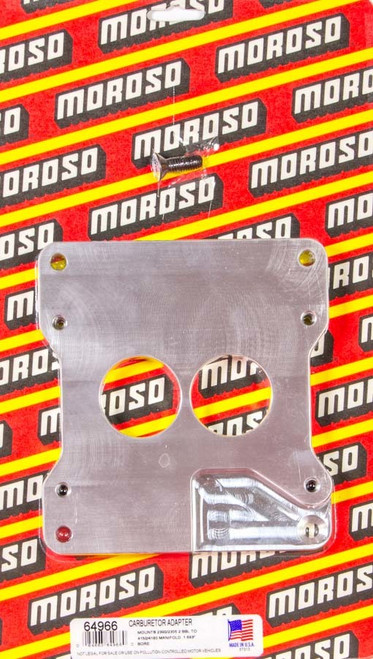 Moroso 64966 2 To 4bbl Carb Adapter