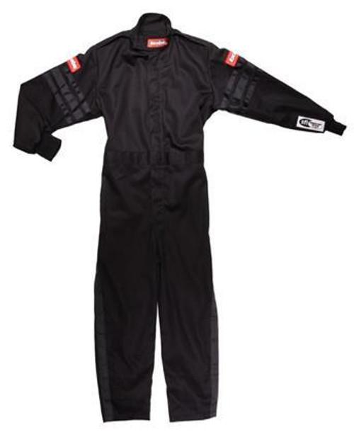 Racequip 1959993 Black Suit Single Layer Kids Medium Black Trim
