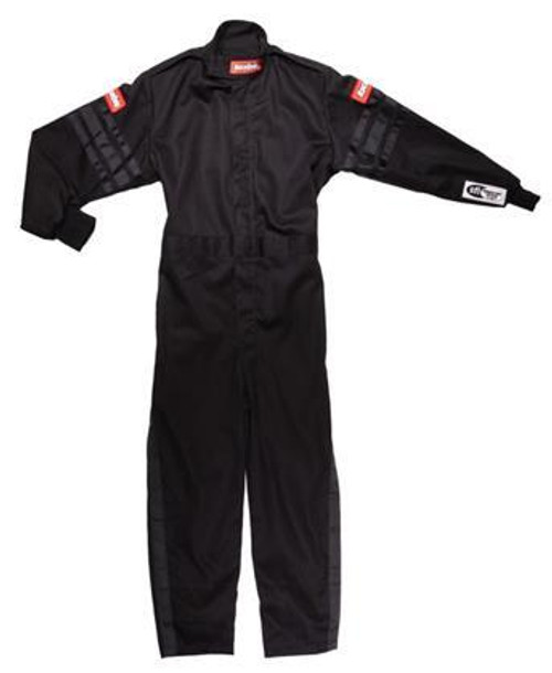 Racequip 1959995 Black Suit Single Layer Kids Large Black Trim