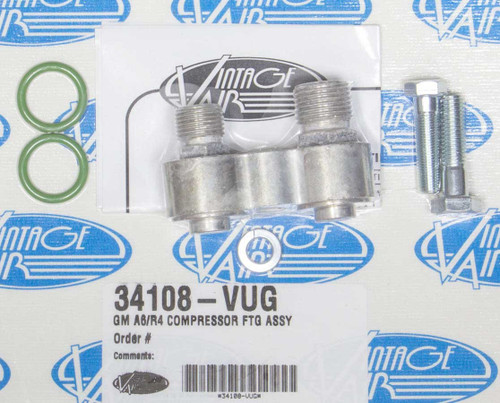 Vintage Air 34108-VUG Compressor Fitting Assy