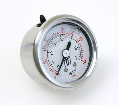 Turbosmart Usa TS-0402-2023 Fuel Pressure Gauge 0-100 PSI Liquid Filled