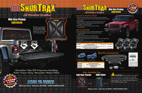 Shurtrax 102 Mid-Size Pick-Up Sell Sheet