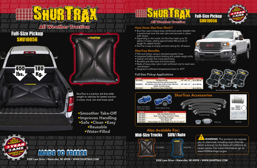 Shurtrax 103 Full-Size Pick-UP Sell Sheet