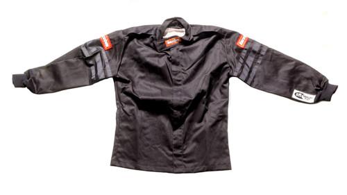 Racequip 1969993 Black Jacket Kids Single Layer Medium Black Trim