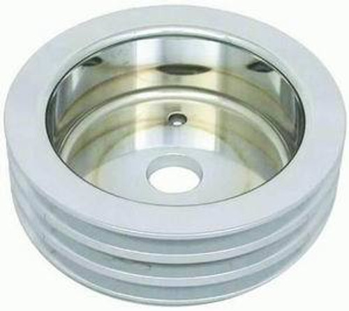Racing Power Co-Packaged R8849POL Polished Alum BBC Triple Groove Crank Pulley SWP