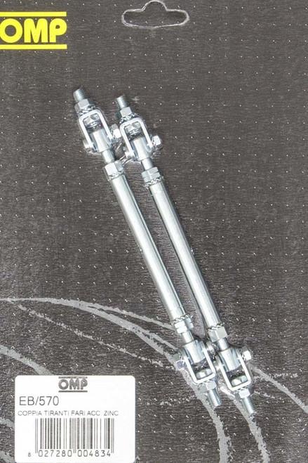 Omp Racing, Inc. EB570 Rally Star Bars Zinc Plated Adjustable