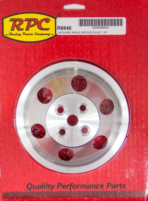 Racing Power Co-Packaged R8840 BBC SWP Single Groove Upper Pulley