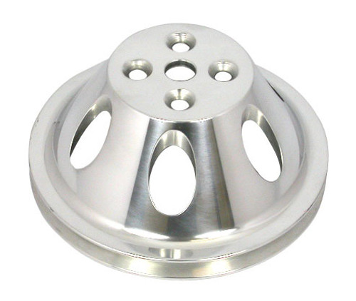 Racing Power Co-Packaged R8840POL Polished Alum BBC Single Groove Water Pump Pulley