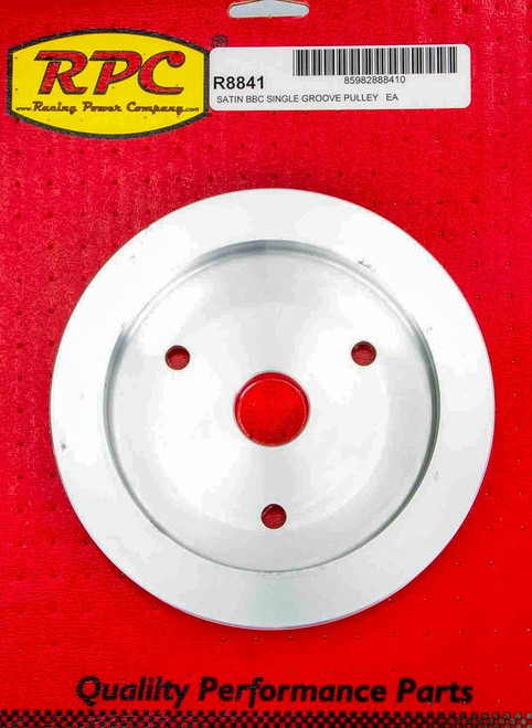 Racing Power Co-Packaged R8841 BBC SWP Single Groove Lower Pulley