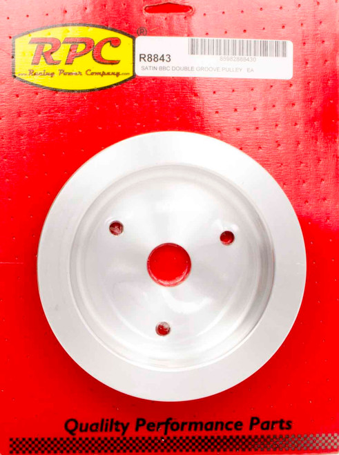 Racing Power Co-Packaged R8843 BBC SWP 2 Groove Lower Pulley Satin