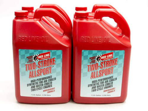 Redline Oil 40825 Two Stroke Allsport Oil Case 4 x 1 Gallon