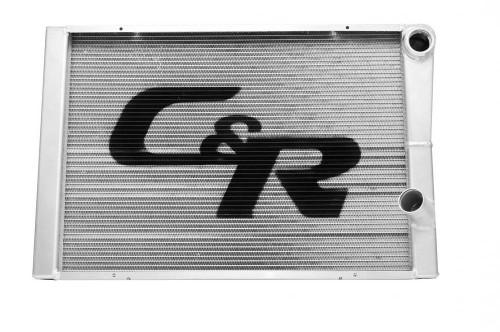 C And R Racing Radiators 912-28191 LW Radiator Chevy 19x28 Dual Pass No Filler