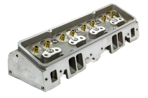 Flo-Tek 101500 SBC 180cc Alum Cyl Head 64cc 2.02/1.60 A/P Bare