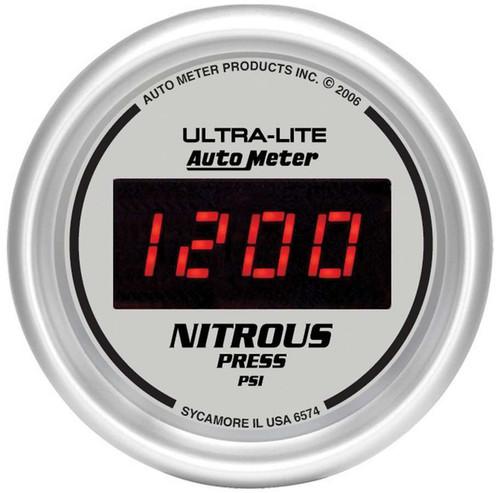 Autometer 6574 2-1/16in DG/S Nitrous Pressure Gauge