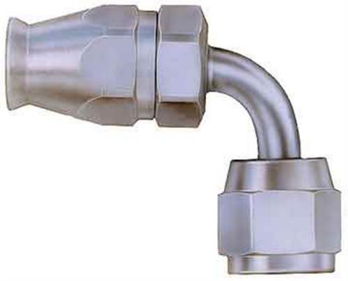 Aeroquip FBM1122 #6 90 Deg Steel Swivel Fitting Teflon