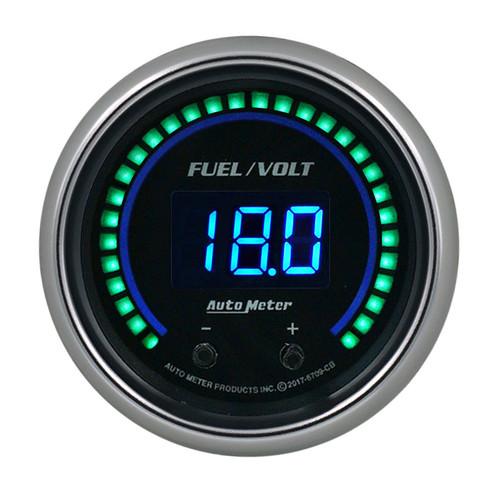 Autometer 6709-CB 2-1/16 Fuel/Volt Gauge Elite Digital CB Series