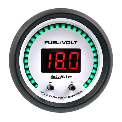 Autometer 6709-PH 2-1/16 Fuel/Volt Gauge Elite Digital PH Series