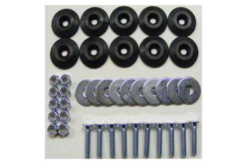 Dominator Racing Products 1200-BK Body Bolt Kit Black 10 Pack