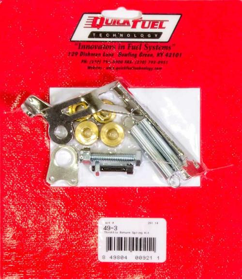 Quick Fuel Technology 49-3 Throttle Return Spring Kit - Square Flange