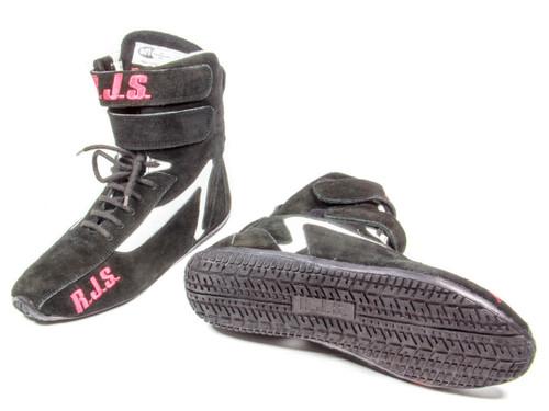 Rjs Safety 500010155 Redline Shoe High-Top Black Size 9 SFI-5