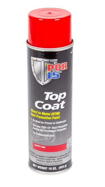 Por-15 46118 Top Coat Safety Red 16oz Aerosol