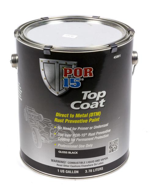 Por-15 45801 Top Coat Gloss Black 1 Gallon
