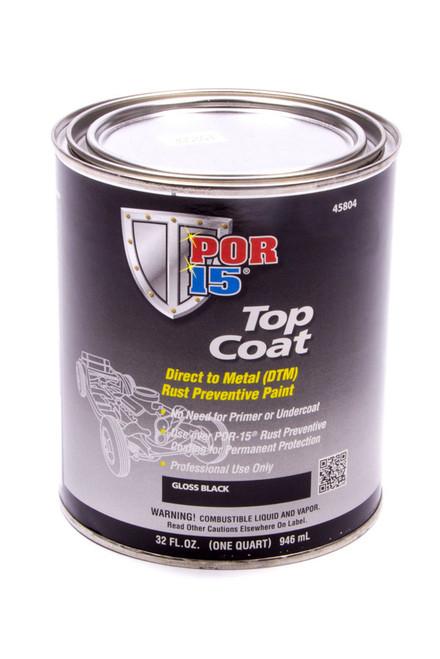 Por-15 45804 Top Coat Paint Gloss Black Quart