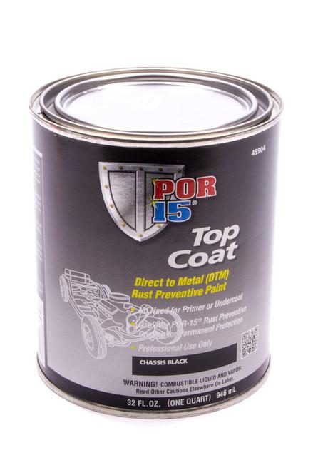 Por-15 45904 Top Coat Chassis Black Paint Quart