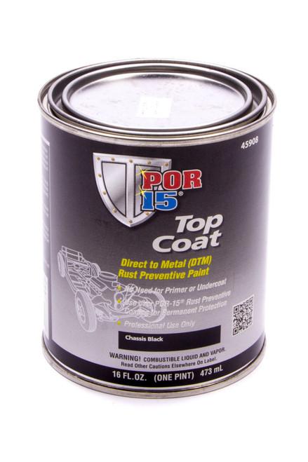 Por-15 45908 Top Coat Chassis Black Paint Pint