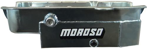 Moroso 21326 SBC 8qt CT Oil Pan - RH Dipstick 80-85