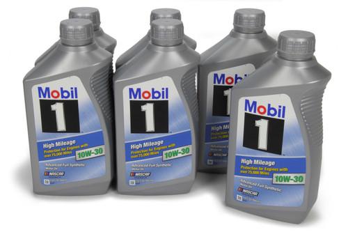 Mobil 1 103535 10w30 High Mileage Oil Case 6x1Qt Bottles