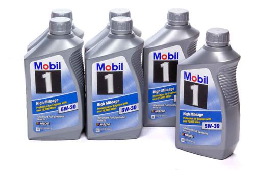 Mobil 1 103767 5w30 High Mileage Oil Case 6x1Qt Bottles
