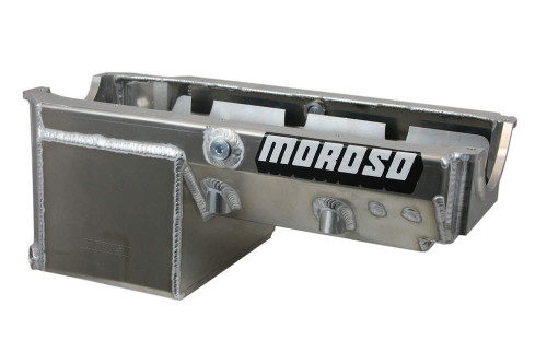 Moroso 21240 8qt Oil Pan - SBC Drag Race w/2-Piece Rear Main