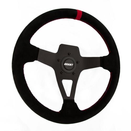 Grant 8521 Edge Series Steering Wheel Black Suede