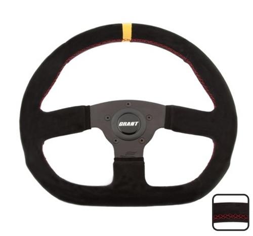 Grant 8548 Suede Series Steering D- Wheel 13.75in Diameter