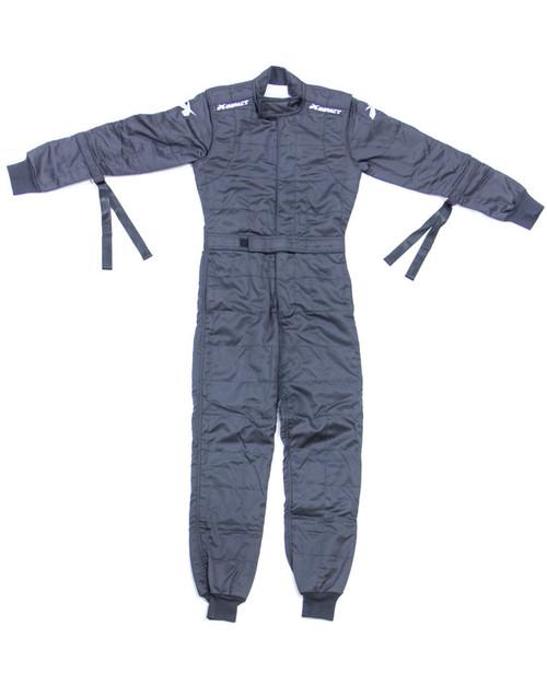 Impact Racing 21400510 Suit D/L Black Jr Large