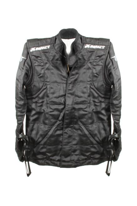 Impact Racing 22700410 Suit Qtr Midget Jacket Medium Black
