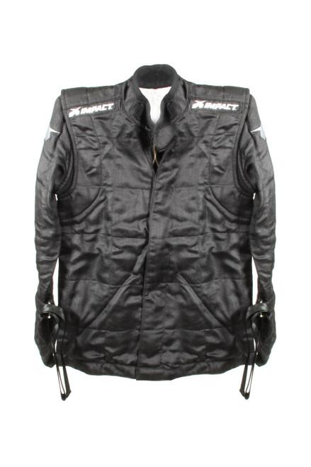 Impact Racing 22700510 Suit Qtr Midget Jacket Large Black