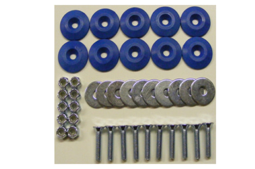 Dominator Racing Products 1200-BL Body Bolt Kit Blue 10 Pack