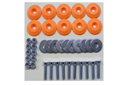 Dominator Racing Products 1200-OR Body Bolt Kit Orange 10 Pack