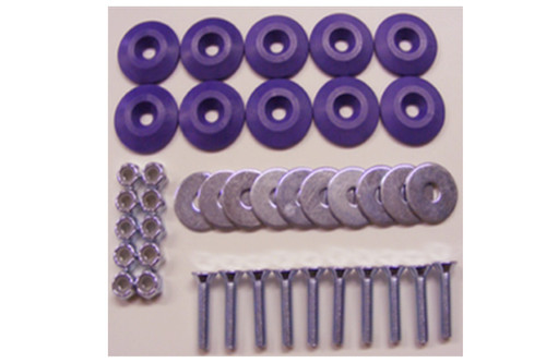 Dominator Racing Products 1200-PU Body Bolt Kit Purple 10 Pack